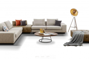 CASUAL CORNER SOFA + STOOL