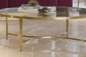COFFEE TABLE AMBER DIM 140*80*45 CM