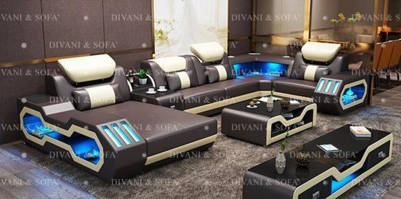 Canapele si coltare din piele colectia Platinum